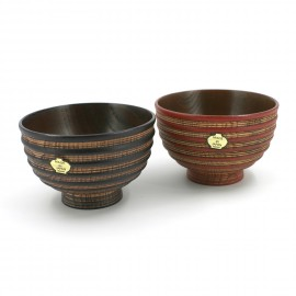 set of 2 wooden bowls for Miso soup MJ37G-46-01