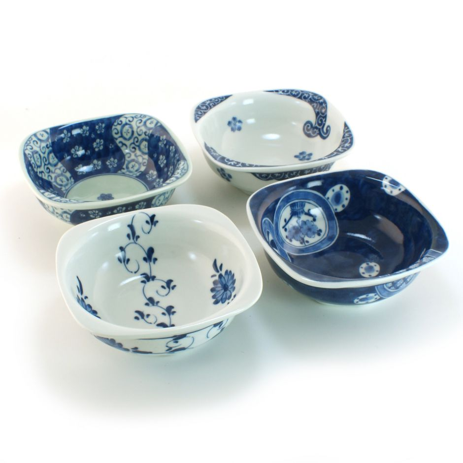 sc 1 st  Nipponboutique & set of 4 chawan rice bowls in Japanese ceramics MYA31182