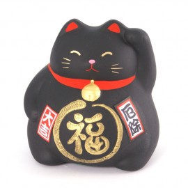 Black lucky cat maneki-neko 334220