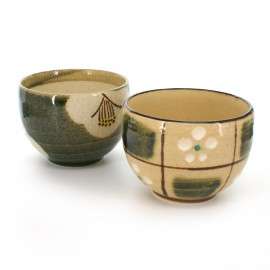 duo of Japanese tea cups ceramic CAW46-7-8