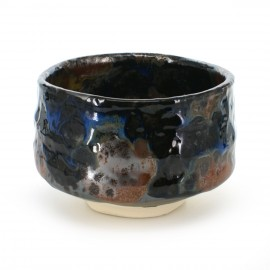 matcha tea bowl blue SHINKAI