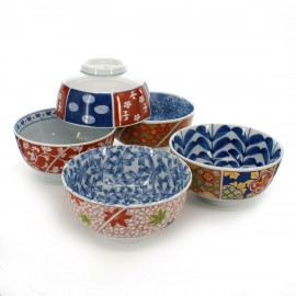set of 5 bowls Japanese Arita 16M5091