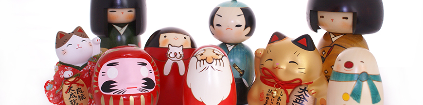 Japanese wooden dolls - Kokeshi