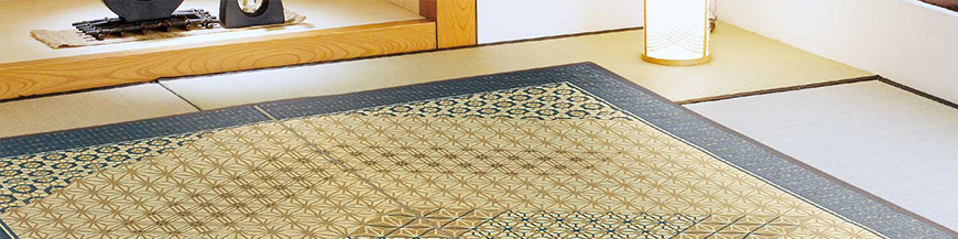 Japanese carpets and tatami mats